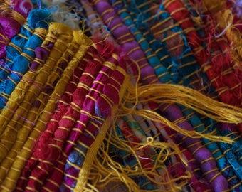 Colourful Woven Floor Rug.