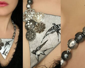 "Necklace ""Follow the Swallow 7"""