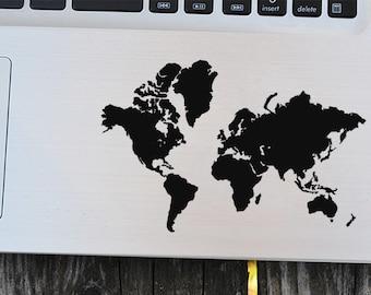 World map decal, world decal,world map sticker, laptop decal, vinyl decals, macbook decal, wall sticker, car decal, wall decal