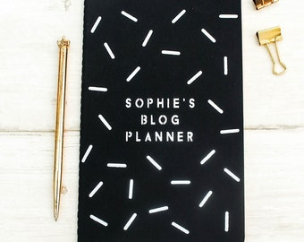Blog Planner Personalised Notebook