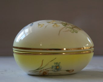 RINGTONS Vintage Egg Shaped Trinket Box