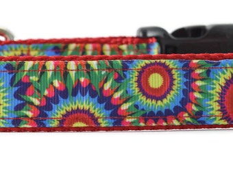 Tie Dye Dog Leash, colorful dog leash, spiral dog leash, cool dog leash, unique dog leash, tie dyed dog leash, custom dog leash