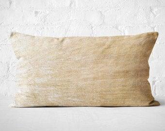 Cream Velvet Lumbar Pillow  Housewarming Gift Idea for couple   Cream Velvet Lumbar Cushion