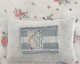 French linen lavender pillow blues
