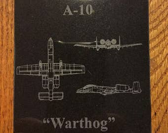 Customizable Aircraft Laser Engraved Granite Tile / Coaster
