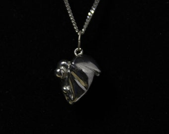 DR' / Silver / Sterling Silver / handmade / Necklace / Heart / Love