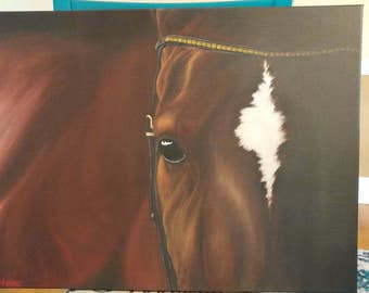 """Original oil on canvas painting: """"Sir Horse"""""""