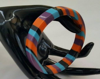 Colorful Striped Bangle Bracelet