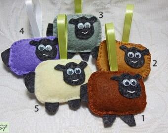 Felt Sheep ornament, Home decorations, felt Lamb ornament, Baby shower gift, Baby room decor, Decorations children birthday party, Fabric