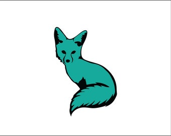 Fox decal, nature car decal, vinyl decal, exotic animal, unique cute car sticker, girly yeti tumbler, tumbler decal, cute fox silhouette