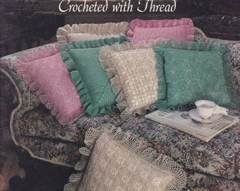 Lace Pillows Crocheted with Thread, Leisure Arts Crochet Pattern Booklet 2017