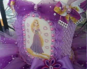 Princess Tutu Dress with Rapunzel transfer Tangled