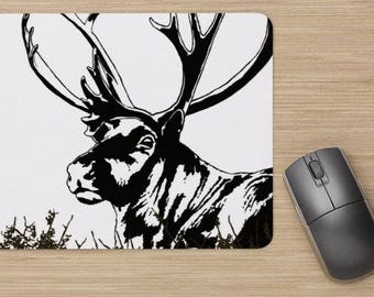 Mouse pad, the caribou, the reindeer, white,