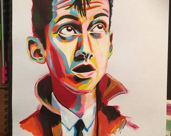 Alex Turner Portrait-Acrylic on Paper-Size A3-12 inch by 16.5 inch- For Frame-Original Painting-Celebrity Portrait-The Arctic Monkeys