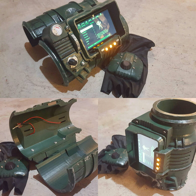 Pip-Boy 3000 3D printed Replica FAN ART