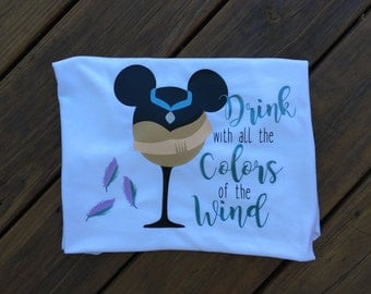 Drinking Disney  Princess Pocahontas/ Drink with all the  colors of the wind