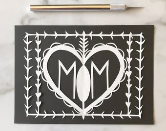 ON SALE Mom Original Papercut