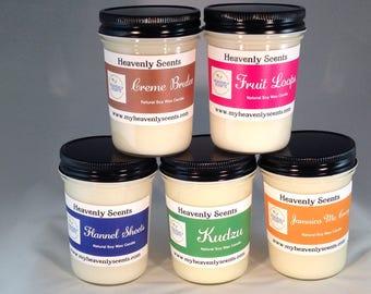 100% Natural Soy Wax Candles