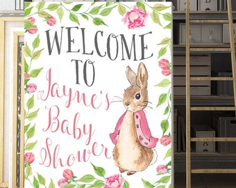 Peter Rabbit Baby Shower, Customized, Baby Shower Sign, Baby Shower Poster, Custom welcome sign, Personalized, Peter Rabbit Sign, Printable
