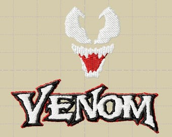 Venom Face and Logo - Embroidery *Design Only*