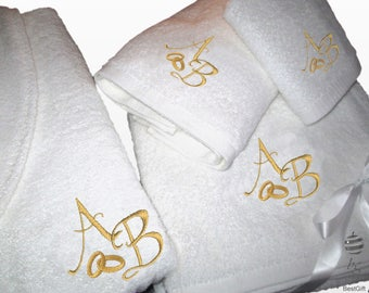 Personalized Wedding Bath Set in Gold colour
