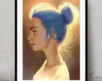 Bun • Digital Painting • Wall Art