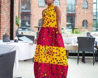 Ankara Maxi dress, maxi dress, long dress, summer dress, african print dress, ankara dress,