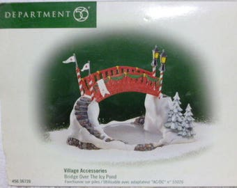 "Department 56 North Pole ""Bridge  Over  The  Icy Pond""  # 56.56720"