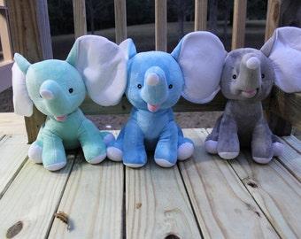 SALE: ONLY 2 LEFT>>> Elephant Cubbies | Monogrammed Elephants | Birth Announcement Elephant | Elephant Stuffed Animal
