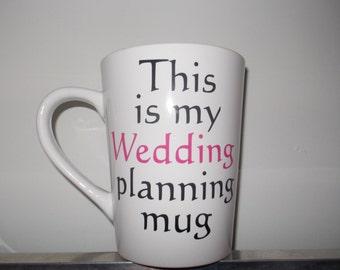 Personalized Wedding planning mug with name *SALE*