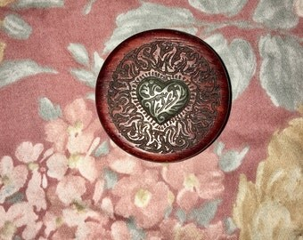 Vintage Heart Engraved Jewelry Trinket Box