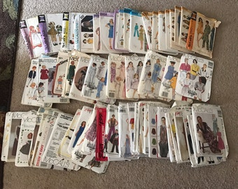 70's 80's and 90's patterns- large lot- great for use or a prop