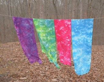 Ice Dyed Bamboo Rayon Scarves