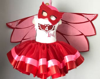 PJ Masks Tutu Outfit - PJ Masks Owlette inspired tutu outfit