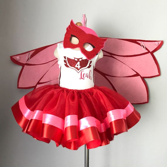 PJ Masks Owlette inspired tutu outfit