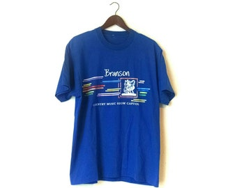 Vintage 1980s Branson Missouri country music show capital souvenir tshirt