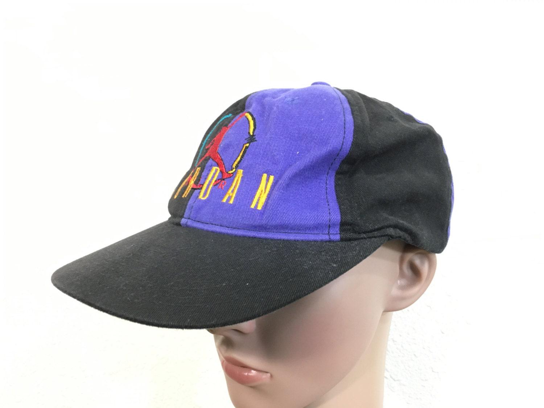 147b5c0ce1f116 ... ebay 90s vintage nike air jordan color block snapback jumpman hat 0faba  2aa76