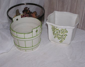 Two x two original flower planters from the seventies