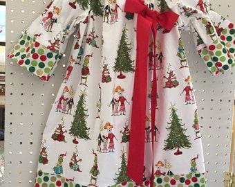 Christmas grinch dress - 3T