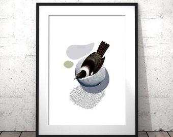 Minimal Bird, Livingroom Wall Art, Digital Download Art Print, Printable Art Print, Apartment Decor, DIY Modern Art Poster, Cubicle Decor