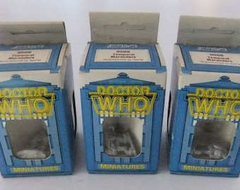 3 Dr Who Miniatures Temporal Marauders boxed and sealed (9508) by RAFM vintage 1986