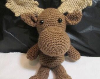 Moose Moose Stuffed Animals Stuffed Animals Toy Stuffed Toy Crocheted Moose Crocheted items Crocheted Toys Horned Moose