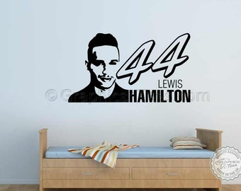 Lewis Hamilton Wall Sticker, Wall Art Design, Home Lounge Bedroom Wall Sticker, F1, Formula One, Motorsport sticker