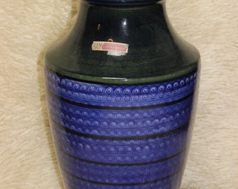 Floor vase, floor vase Bay ceramic series Contura height 40 cm very fine condition German pottery