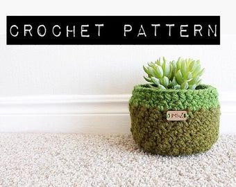 CROCHET PATTERN//The Arizona Basket Pattern/crochet basket/flower pot
