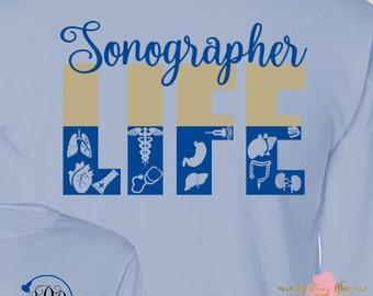 Monogrammed Sonographer Ultrasound Technician Life Great Gift Idea