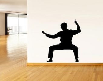 rvz2535 Wall Vinyl Decal Sticker Bedroom Dorm Sport Kung Fu Karate Gimnastics