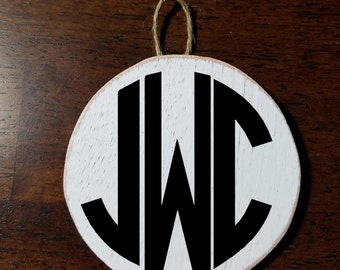 Personalized Wooden Initial Disk