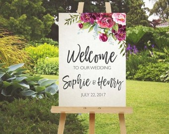 Wedding welcome sign, welcome wedding sign, welcome to our wedding sign, wedding signs, large wedding sign, PRINTABLE!