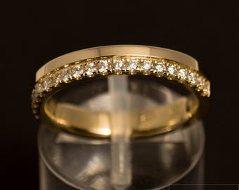 Half Memoryring/Alliance ring made of 585 gold with diamonds